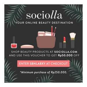 Thank God it's Friday! Ladies, time to get yourself some remedies. Use this code and go to bit.ly/sociollacode to to get Rp 50.000,- after buy Rp 250.000,- of any products on @sociolla. Happy shopping! 😘