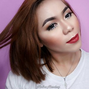 Yaay..... Happy Friyay Guys �😊�😊 @anastasiabeverlyhills Dipbrow Pomade Dark Brown @morphebrushes Eyeshadow Palette 35F @ltpro_official Eyeliner Pencil Black @ratubulumata Eyelashes @makeoverid Foundation 04 Mix Naturactor 151 @lagirlindonesia Pro Concealer @morphebrushes Palette 9C @thebalm_cosmetics Mary Lou Manizer Highlight @softlens_ainil Sofltlens @makeoverid Blush On Palette  @blpbeauty Candy Apple & Beet Me  XoXo 💋💋