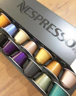 Mid day pick me up! Eenie meenie minee moo.. 😉#coffee #nespresso #colorful #clozetteid #caffeinefix