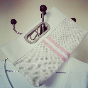 Ted baker white sweater and white clutch #recentpurchase #tedbaker #white #sweater #clutch #favouritecolor