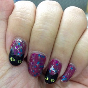 Black Cats on my nails~