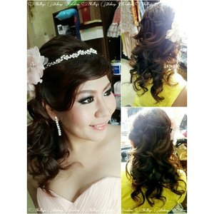 Congratulations @hedie_christina for the Engagement  Makeup and HairDo by @shelleymuc  #makeup #makeover #beauty #shelleymuc #surabaya #makeupartist #mua #shelleymakeupcreation #beforeafter #clozetteID #makeover #muasurabaya #muaindonesia #hairdo #engagement #engagementmakeup #InstaSize