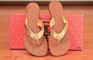 It's so comfy! Tory Burch Thora Thong sandal gold snakeskin.
