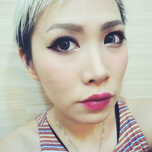 FOTD 🐱 Wore @bunnylashes_id Edelweiss and Addiction by Ayako lipstick Lady Of The Lake. #fotd #motd #makeupoftheday  #clozetteid #clozetteco #fdbeauty