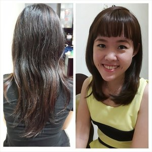 Hair makeover 💇 @merrymegawati  Cut: agus salim Coloring: @yunnychristiany  #hairstylist #stylist #hair #hairmakeover #coloring #haircoloring #browncolor #browngold #medium hair #haircutting #cutting #haircut #salon #makeover #instahair #hairgram #instaphoto #photogrid #beforeafter #longface #cutbyagussalim #asianhair #indoorlightening #clozetteid #nofilter #style #saynotocumicumihair