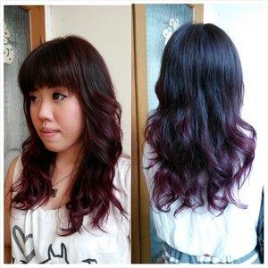 Sombre purple @huangvni  #haircolors #haircoloring #color #sombre #purple #brownpurple #number11id #number11 #number11style #salon #number11salon #fashioncolor #sombrehair #Clozetteid #hotd #hairoftheday #comingsoon