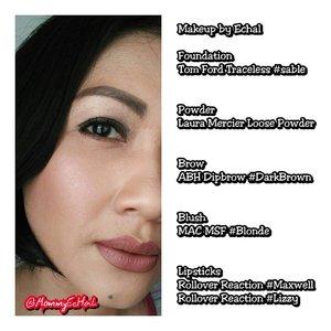 Makeup of The day by ME 😁😁 #selfpotrait #myselfandi #narcism #makeupoftheday #lipsticksaddict #lipsticksjunkie #makeupaddict #makeupjunkie #clozettedaily #clozetteid #beauty #makeup #fotd #lotd #fdbeauty #femaledaily