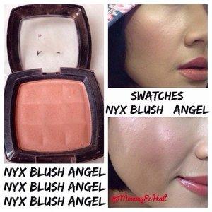 NYX Blush Angel #swatches #blush #nyxcosmetics #makeupjungkie #clozetteid #femaledaily