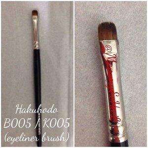Hakuhodo B005 / K005 #eyeliner #brushes #hakuhodobrush #brushaddict #makeupjungkie #clozetteid #fdbeauty #femaledaily