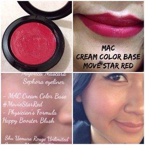 MAC Cream Color Base #moviestarred as a blush and as a lip color #latepost #selfpotrait #myselfandi #narcism #blush #creamblush #redlipsticks #maccosmetics #lipspotrait #lipstickjungkie #makeupjungkie #clozetteid #femaledaily
