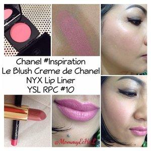 Chanel Cream Blush Inspiration #fotd #selfpotrait #myselfandi #narcism #creamblush #chanelcosmetics #makeupjungkie #clozetteid #femaledaily