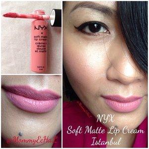 "NYX Soft Matte Lip Cream #Istanbul from @nyxcosmetics ""Me Likey!"" 😍😍#selfpotrait #myselfandi #narcism #lipspotrait #pinklipsticks #nyxcosmetics #lipstickjungkie #makeupjungkie #clozetteid #fdbeauty #femaledaily"