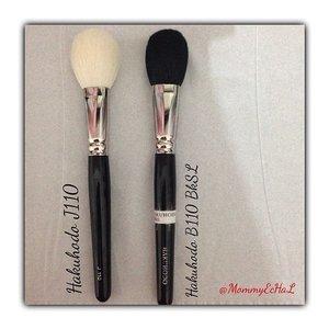 Hakuhodo J110 VS Hakuhodo B110 BkSL #brushes #brushaddict #hakuhodobrush #makeupjungkie #clozetteid #femaledaily