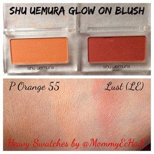 Swatches @shuuemuraid Shu Uemura Glow On Blushes #swatches #blush #peachyblush #orangeblush #shuuemuracosmetics #makeupjungkie #clozetteid #femaledaily