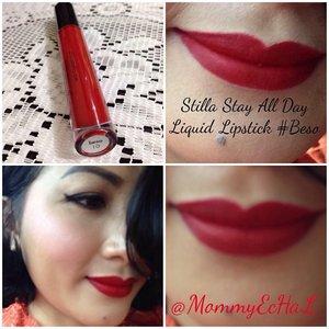 Stilla Stay All Day Liquid Lipstick #Beso #selfpotrait #myselfandi #narcism #lipspotrait #redlipsticks #stillacosmetics #lipstickjungkie #makeupjungkie #clozetteid #femaledaily