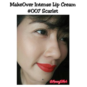 Make Over Intense Lip Cream #007 Scarlet @makeoverid from @sociolla #selfpotrait #myselfandi #narcism #lipspotrait #makeoverintensemattelipcream #makeoverscarlet #makeovercosmetics #lipsticksaddict #lipsticksjunkie #makeupaddict #makeupjunkie #clozettedaily #clozetteid #beauty #makeup #fotd #lotd #fdbeauty #femaledaily