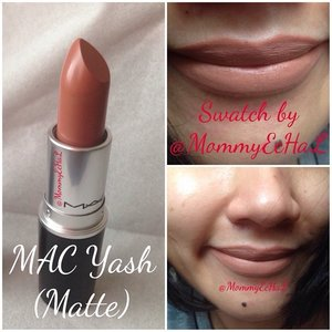MAC Yash (matte) #selfpotrait #myselfandi #narcism #lipspotrait #nudelipstick #maccosmetics #lipstickjungkie #makeupjungkie #clozetteid #femaledaily