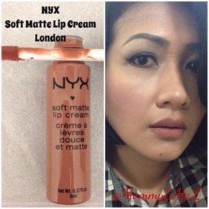 NYX Soft Matte Lip Cream London from @nyxcosmetics #selfpotrait #myselfandi #narcism #lipspotrait #nudelipstick #nyxcosmetics #lipstickjungkie #makeupjungkie #clozetteid #femaledaily