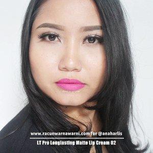 LT Pro Longlasting Matte Lipcream 02 From @anaharlis - Blue based pink gitu, kayak Jupe. Tapi nggak neon dan nggak norak kok jatuhnya. - #review selengkapnya di #bblog #racunwarnawarni: http://http://www.racunwarnawarni.com/2016/10/lt-pro-matte-lipcream.html?m=1 - #ltprolonglastingmattelipcream #clozetteid #mattelipstick #localbeautybrand #localbrand #lipstickswatch #fotd #motd #lotd #racunlipstickswatch DILARANG MENGGUNAKAN FOTO INI TANPA IJIN