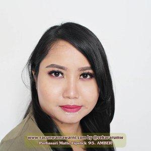 @purbasari_indonesia Matte Lipstick 95. Amber-Nude warm pink. Warnanya agak mirip Jade, tapi lebih muda dan lebih cooltone. Dan menurut saya merupakan warna aman. Kalau kamu suka warna-warna pink kalem, si Amber ini bakalan cocok untuk kamu.-#review selengkapnya di #bblog #racunwarnawarni:http://www.racunwarnawarni.com/2016/08/purbasari-matte-new-shade.html?m=1-#clozetteid #mattelipstick #localbeautybrand #localbrand #lipstickswatch #fotd #motd #lotd #racunlipstickswatch #purbasarimatte #purbasarimattelipstickDILARANG MENGGUNAKAN FOTO INI TANPA IJIN