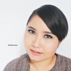 #fotd kalau rambut begini saya merasa kayak bcl. Iyaaaa...merasa doang. Nggak usah diperkarakan, plis! @looxperiments  #motd #clozetteid #beauty #selfie #makeup #naturalmakeup