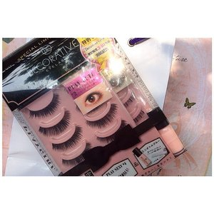 Got this from @kaycollection! A super good deal! 189.000 for 2 pack of @decorative.eyelash.  #recentpurchased #makeup #eyelash #decorativeeyelash #kaycollection #fakelash #japanbeauty #bblogger #bblog #fdbeauty #clozetteid