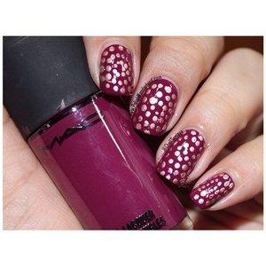Day 11 Polkadot  #notd #31dc2014 #polkadot #nailart #purplenails #nails #simplenailart #nailartlover #instadaily #dailypost #fdbeauty #clozetteid #kuteksjunkie #polishwonderland #macpolish #goldpolkadot