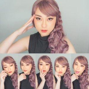 Many expressions, kalian suka yang mana?? btw kaya aku FIXED ketagihan sama wig nih.. bahayaa .. kira2 next warna apa ya??