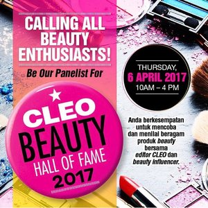 Entering @cleo_ind Beauty Hall of Fame 2017 .... Beauty is my soul, Skincare is my mind, Makeup is my body.. im a junkie, im an addict.. Thats part of my life... Aku sangat concern dengan perawatan kulit, for me if you have a healthy skin kecantikan akan terpancar dengan sendirinya, mau makeup seperti apapun akan terlihat bagus.. become one of Cleos panelist is my one step closer to achieve my goal.. this is my opportunity right here right now.. . . . . . . . . #beautynesiamember #beautyblogger #indonesianfemaleblogger #beautyjunkie #makeupjunkie #indobeautygram #indonesianblogger #Indonesianfemalebloggers #indonesianyoutuber #beautyenthusiast #beautybloggerindonesia #youtubers#youtubersindonesia#indobeautyvlogger#indobeautyblogger#clozetteid#beautyinfluencer#뷰티#뷰티스타그램#유튜브#블로그#블로거#스타일#메익업#샐카#샐카그램#샐피#샐피그램 #CLEOBeautyHallofFame2017