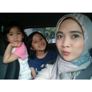 Three of us.  _ #rachanlie #kakira #kakiramyid #motherdaughter #love #familyblogger #clozetteID