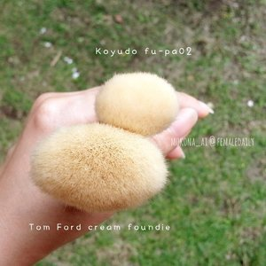 #Koyudo fu-pa 02 ✖ #TomFord Cream Foundation Brush 02💋#晃祐堂 #トムフォード #メイクブラシ #メイク #foundationbrush #clozettedaily #clozetteid #femaledaily