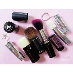 #retractablebrush 🌹 #JillStuart #ジルスチュアート #Chanel #シャネル #Guerlain #ゲラン #AnnaSui #アナスイ #brushjunkie #makeupjunkie #fdbeauty #femaledailynetwork #clozetteid