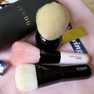 White Mushroom kabuki, Heart shaped powder brush, fu-pa02 foundtion brush