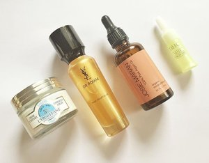 What #skincare for the face I'm using recently, mostly are oils as it safe to use during #pregnancy. #DHC #ディエイシー #virginoliveoil #DHCskincare #JosieMaran #ショシーマラン #arganoil #YSL #イヴサンローラン #OrRouge #saffron #loccitane #loccitaneenprovence #SheaButter #ロクシタン #beautyaddict #コスメ #clozetteid #fdbeauty #femaledailynetwork
