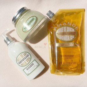 Repurchase from #loccitane #amande series It's my most fave line of l'occitane's #almond #grooming #fdbeauty #femaledaily #beautyjunkie #clozetteid