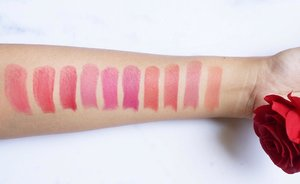 Swatches of @pixycosmetics Matte In Love Lipsticks. [Soon on blog!] ❤️💄 . . . . . #swatches #lipstickswatches #pixymatteinlove #pixycosmetics #beautybloggerindonesia #makeuptalk #makeupmess #makeuplove #lipstickjunkie #clozetteid
