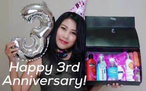 Happy 3rd Anniversary dear Clozette Indonesia ! Wishing you more success and achievements in the future! Thank you for being our friend and beauty companion. May the future brings more exciting projects and fun opportunities for you to spread your wings even more further dear @clozetteid ❤️❤️ We fully support you! . PS : Thankyou for the lovely gift box as part of your #starclozetter and part of your anniversary celebration! . . PSS : Extra thanks to @tresemmeid @wardahbeauty @ionessence & @SensodyneIndonesia . . . . #ClozetteID #ClozetteDiversi3 #RunwayReadyHair #Ionessence #ColorMeUp #DoveIDN #SensodyneID #indonesianbeautyblogger #bloggerlife #anniversarygift #birthdaywishes #todaysstory #igdaily #beautygram