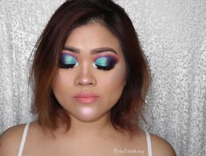 Playing with more colors for my eyes turns out I really love it!! 💕💕 . . PRODUCT USED . . EYES @juviasplace the Maquarade Palette #juviasplace  @morphebrushes x @jaclynhill palette #morphebrushes #morphexjaclynhill . . CHEEKS @lagirlindonesia Pro Contour Powder *Light #lagirlindonesia @maccosmetics Powder Blush *Lesson In Love #maccosmetics #maccosmeticsid  @anastasiabeverlyhills Aurora Glow Kit *Spectra and Orion for inner corner #anastasiabeverlyhills #ABHJunkies #glowkit . . LIPS @jeffreestarcosmetics Lip Ammunition *Birthday Suit #jeffreestarcosmetics
