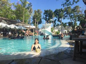 Sun-kissed ☀️But still far from tan.Still summer here.. As almost forever..Swim enough?...#bali #balidaily #balilife #swimming #summer #balivibes #clozetteid #summerholidays #beach