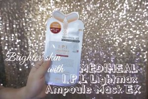 Brighter skin made possible even more with @mediheal_idn IPL Lightmax Ampoule Mask EX.  Full video here: https://youtu.be/EV6f0b4kQkk  Produk tersedia di @sociolla  #sociolla #sociollaturns4 #cumadisociolla #mediheal #medihealmask @mediheal_official #ClozetteID #bblogger #BeautyVloggerIndonesia #love #brighterskin #1minreview #1minvideo