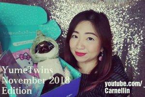 @yumetwins November 2018 edition is here, let's unboxed it together.  https://youtu.be/96Z4tf_FFTo  From Sailor Moon, Sumikko, Hello Kitty, to many more.  #unboxing #yumetwins #sailormoon #love #sumikkogurashi #cat #sanrio #neko #kawaiibox #kawaii #ClozetteID #japan #beauty