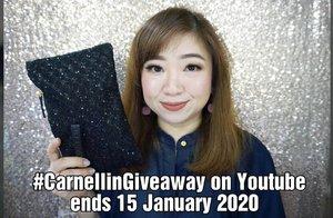 #CarnellinGA at youtube sampe tanggal 15 January 2020 di  https://youtu.be/VOpygWlI_PA  Semoga hadiahnya jatuh ke tangan orang yang membutuhkan dan memakainya dengan senang hati 😊  #CARNELLINGIVEAWAY #giveaway #ClozetteID #igbeauty
