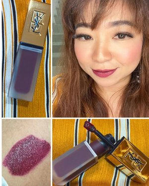 TATOUAGE COUTURE LIQUID MATTE LIP STAIN no 15 by @yslbeauty Love the shade, it can go deeper, darker, more mysterious.  Aroma #yslbeauty lippies yang juga khas dan memorable.  #beauty #igbeauty #musttry #recommended #clozetteID #cantik #motd #makeupoftheday #photooftheday #potd #lotd #stainlips #loveyourself #love #bblogger #beautyvloggerindonesia #deep #lips #lipstickoftheday #lipstick #mattestain #igdaily #makeup #makeupoftheday #style #styleinspo #styleoftheday