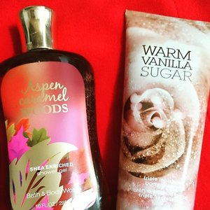 Love sweetness? Then you'll love these from @bathandbodyworks http://whileyouonearth.blogspot.com/2015/06/bath-and-body-works-apple-caramel-woods.html?m=1#clozetteid #toiletries #vanilla #caramel #showergel #bodycream