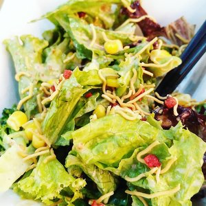 Eat green .... Thank God for salad dressings.  #yums #japanesefood #veggies  #lunch #delicious #clozetteid #photography #foodoftheday #photooftheday #healthyfood #love #salad #greens