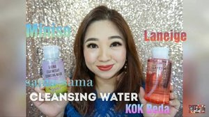 Sama-sama Cleansing Water kok bisa beda banget, yuk ditonton videonya di youtube.com/Carnellin  https://youtu.be/DTYmk4HrHmo  #miniso #laneige #review #vs #videooftheday #video #cleanser #cleanface #cleanskin #makeupremover #ClozetteID #beautyvlog #BeautyVloggerIndonesia #beautyvlogger #everyday #today #youtube