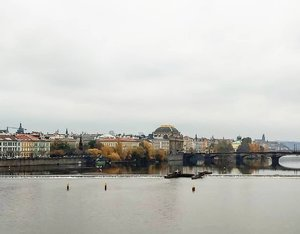 View from the most famous river in Czech Republic.  #wanderlust #traveldiary #czechrepublic #vltava #World #letsgo #River #easteurope #travel #traveling #cityview #ClozetteID
