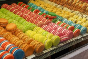 Everybody loves #macaron  It's like an island full of colors here.  Foodies delight from local to International, they even have tons of Japanese options 😄  #sweetness #foodtrend #hello #sweet #ClozetteID #traveldiary #traveling #travellog #foodies #desserts #dessertoftheday #photography