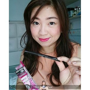 @canmakeid Strong Eyes Liner in Super Black.  http://whileyouonearth.blogspot.co.id/2015/09/canmake-super-black-strong-eyes-liner.html?m=1  #eyeliner #clozetteid #beautyblogger #canmake #makeup @canmakejapan @canmake_official