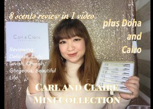 Reviewing 8 fragrances in one video. Jadi di video yang berdurasi 8 menit ini, masing-masing akan dibahas kurang lebih 1 menit saja. Buat kamu yang lagi cari perfume lokal dengan aroma floral yang light and clean, video review ini pas buat kamu. @carlandclaire Mini Collection (plus Doha and Cairo) review is here:https://youtu.be/qsQlvNA_W_Esee you there!! #perfume #parfumlokal #beauty #igbeauty #hello #clozetteID #carlandclaire #edp #eaudeparfum #floral #flowers #potd #ootd #photography #igers #igdaily #igvideo #videooftheday #beautyvideo